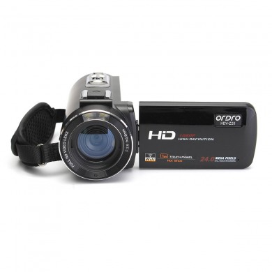 Ordro HDV-Z20 Touch Screen 1080P WiFi 16X 24MP Digital Camera DV Camcorder with Hot Shoe Microphone