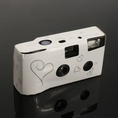 Hearts Disposable Camera with Flash 36exp for Bridal Wedding Party