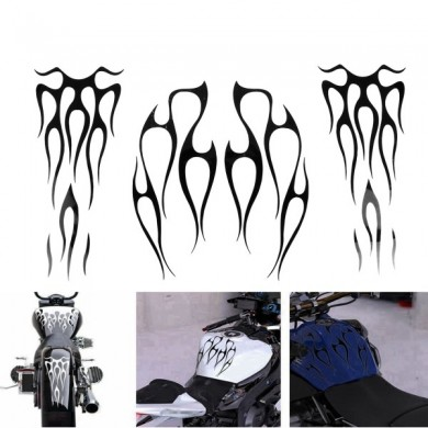 Motorcycle Gas Tank Decals Flames Vinyl Sticker For Fender Universal 11x13inch 6x14inch