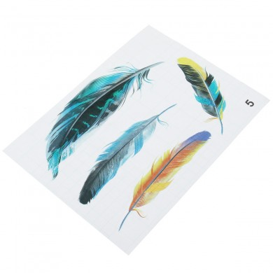 Imitation Feather Motorcycle Tank Autocolantes 3D Tridimensional Decals