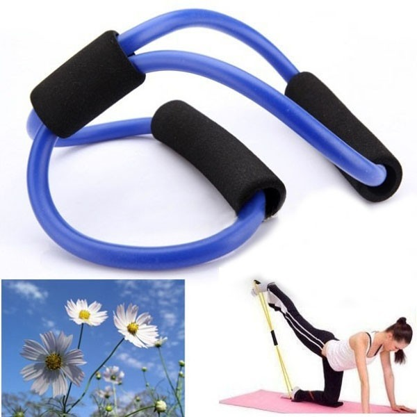 3X Yoga Resistance Bands Tube Fitness Muscle Workout Exercise Tubes 8 Type Blue