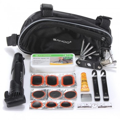 Bike Bicycle Tire Multi-use Repair Tools Mini Pump Kits Bag in 1