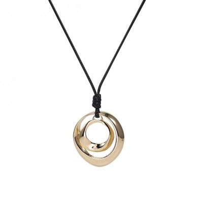 Collana in lega Double Circle Personality Simple Fashion Pendant per Donna