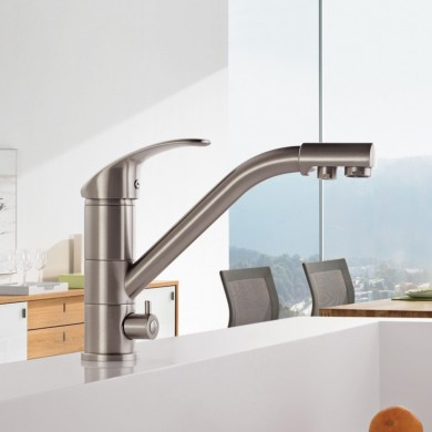 FRAP F4321-5 Kitchen Water Purification 360 Degree Rotation Single Handles Sink Faucet