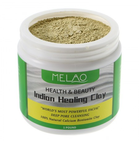 Melao Natural Indian Healing Clay Pores Deep Cleansing Facial Mask Powder Calcium Bentonite