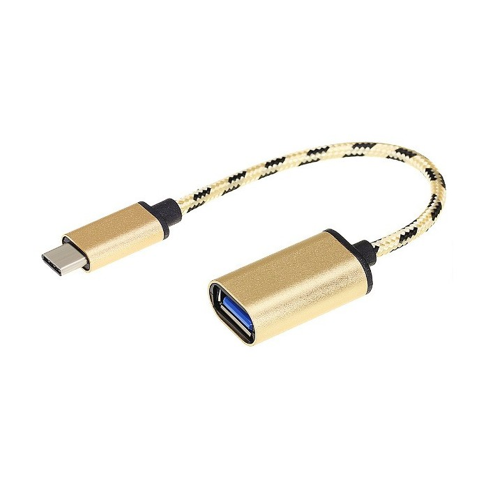 Bakeey Type-C Maschio a USB 3.1 Femmina OTG Gold Adapter Braided Adapter Cable per S8 Xiaomi 6 Letv