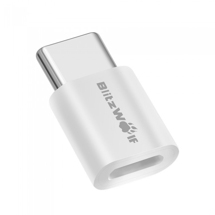 BlitzWolf BW-A2 USB Type-C to Micro USB Connector USB C Adapter 2PCS