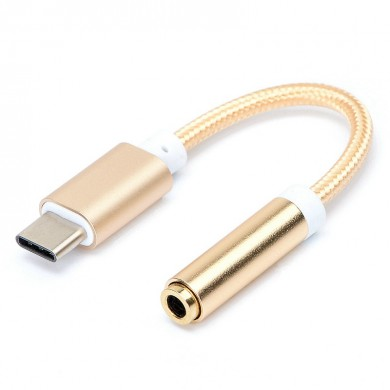 Nylon USB 3.0 Type-C to 3.5mm Audio Earphone Adapter Cable for Letv 2 Pro Max 2