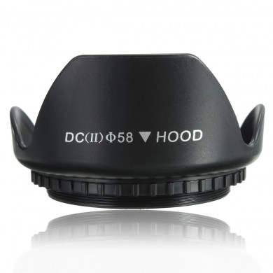 58mm Petal Flower Lens Hood For Canon 700D 100D 650D 600D 550D 1200D 1100D Black