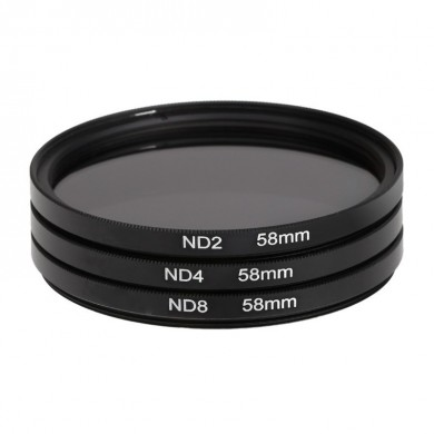 3 Pcs 58mm ND2 ND4 ND8 Neutral Density Filter Lens