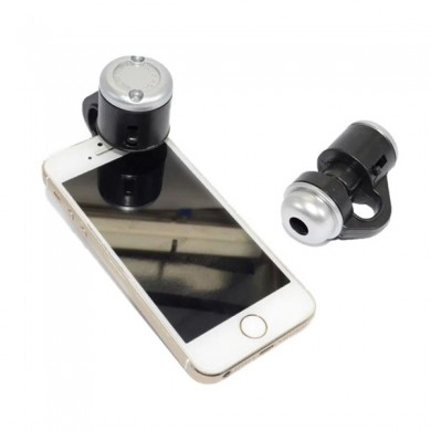 Generisches 30X Zoom LED Lupe Clip-On Mobiltelefon Micro skop Micro objektiv für Apple IPhone Samsung