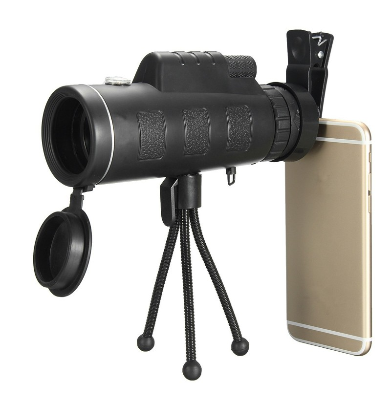 40x60 Waterproof Portable Monocular Telescope High Definition HD Travel with Compass фото