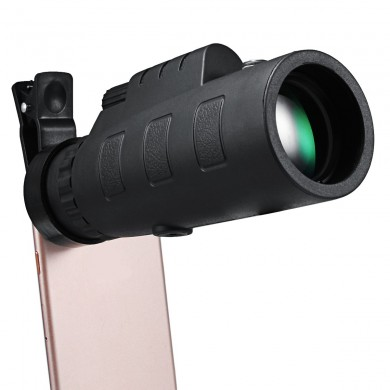 40x60 Zoom HD Clip-on Compass Optical Telescope Camera Lens Clip for Smartphone