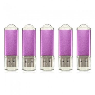 5 x 128MB USB 2.0 Flash Drive Candy Purple Memory Storage Thumb U Disk
