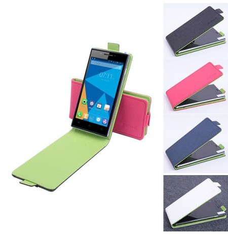 Hit Color Flip PU Leather Protective Case For Doogee Turbo Mini F1