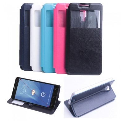 Ultra Thin View Window Leather Case For DOOGEE DG750