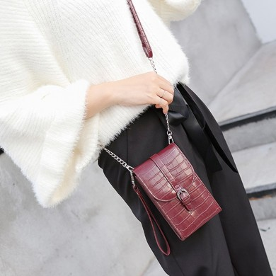 Women Crocodile Pattern Large Capacity Handbag Crossbody Bag Wallet for iPhone Xiaomi Mobile Phone