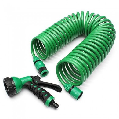10m Flexible Portable Expandable Garden Water Hose With Nozzle