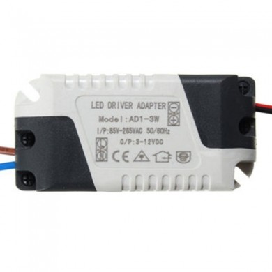 AC85-265V To DC3-12V 1-3W 300mA LED Light Lamp Driver Adapter Transformer Power Supply