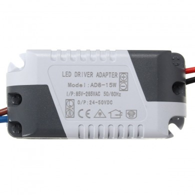 AC85-265V To DC24-50V 8-15W 300mA LED Light Lamp Driver Adapter Transformer Power Supply