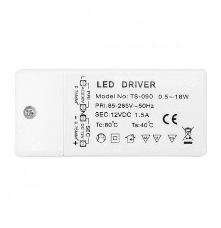 AC85-265V To DC12V 18W LED Driver Power Supply Transformer for MR11 MR16 Light Bulb