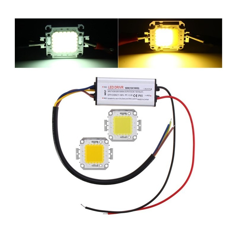 AC85-265V 23W Waterproof High Power LED Driver Supply SMD Chip for Flood Light (Color: Warm White) фото
