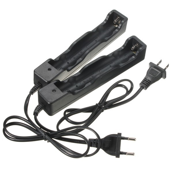 US EU Plug Rechargeable 18650 Battery Double Charger Adapter