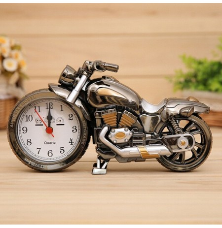 3D Home Decorative Motorcycle Alarm Plastic Cool Clock Birthday Gift Random Color