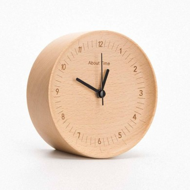 Original Xiaomi Mute Logs Wooden Alarm Clock Quality Fashionable Table Clock with Metal Pointer