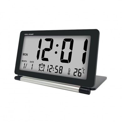 Loskii DC-11 Electronic Travel Alarm Clock Folding Desk Clock With Temperature Date Time Calendar