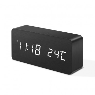 Digoo DG-AC2 Wooden LED Digital Alarm Clock Multifunctional 3 Mode Display Time Thermomete