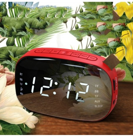 LED FM Radio Digital Alarm Clock with Sleep Timer Snooze Fuction Compact Digital Modern Desig