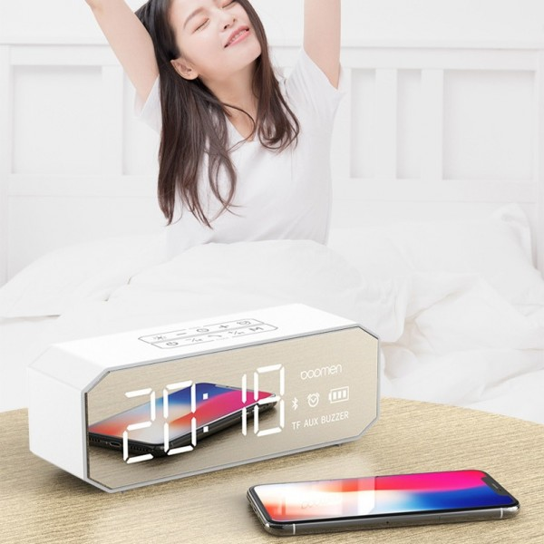 Bopmen B160 Alarm Clock Bluetooth Audio Box Desktop Computer Clock Audio Mobile Wireless Portable Al