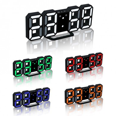 Loskii HC-201 Creative USB Charging 3D Digits Adjustable Brightness Clock