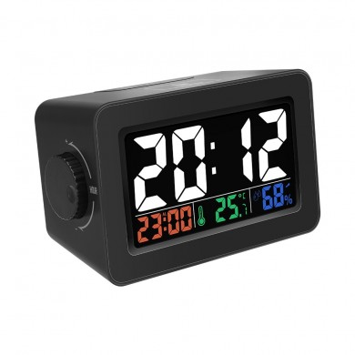 Digoo DG-C1R Brother Double Knob Simplified Alarm Clock Touch Adjust Backlight with Temperature Hu