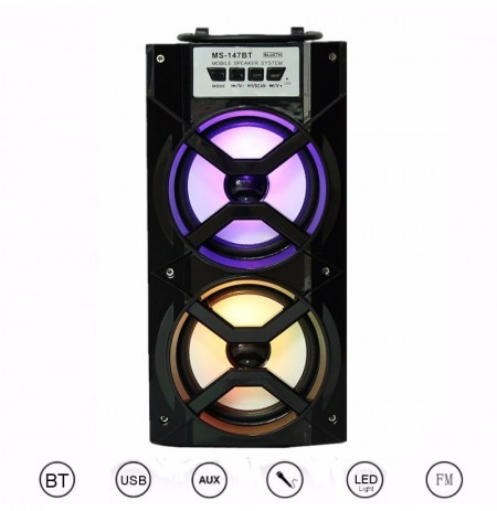 Outdoor Wireless Portable Stereo Super Bass Speaker With USB//TF//AUX//FM Radio
