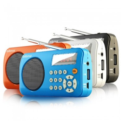Rolton T3 Mini Portable Multifunctional FM Stereo Radio Support Card Play