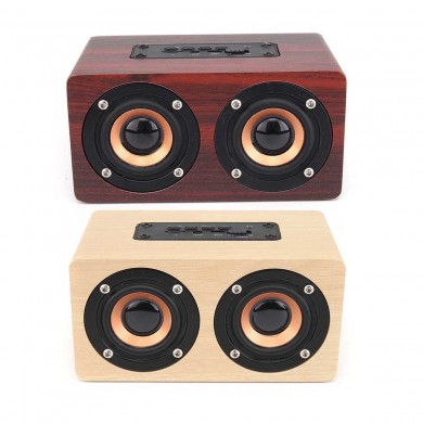 W5 Wireless Bluetooth Dual Lautsprecher Wooden Speaker