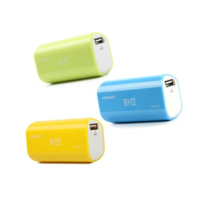 Pisen Funny 2500mAh Power Bank External Battery For Tablet iPhone