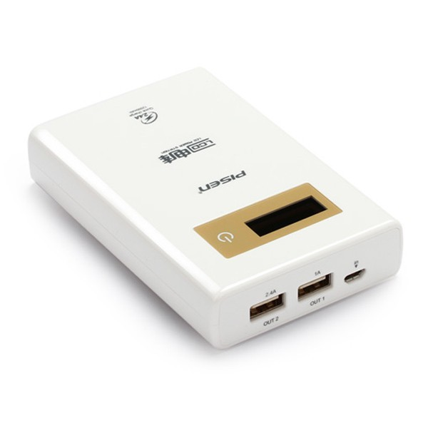 Pisen LCD 12000mAh Power Bank Mobile Charger For iPhone Tablet