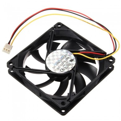3 Pin 80mm 15mm PC CPU Cooling Fan Heat Sink Cooler Radiator For Computer 12V