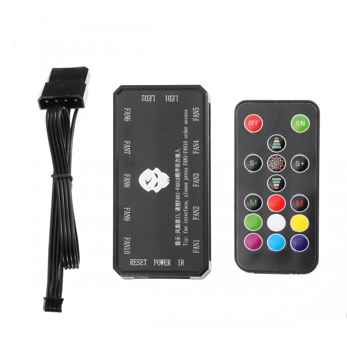 Industrial Computer & Accessories Adjustable Music Computer Pc Rgb Cooling Fan Controller Control Panel For Cpu+ir Remote Control Heat Sink Accessories