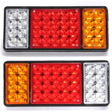 Pair 36Led Rear Stop Reverse Tail Lights for Truck Ute Trailer Car