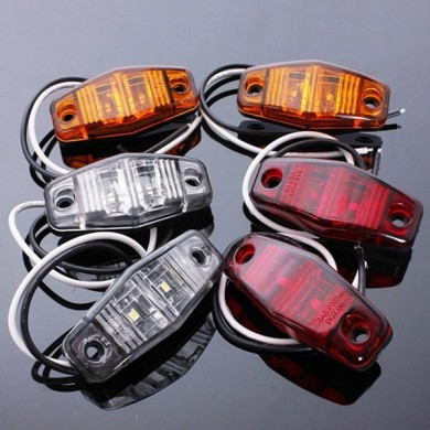 12V Side Marker LED Lights Indicator Lamps for Car Truck Trailer