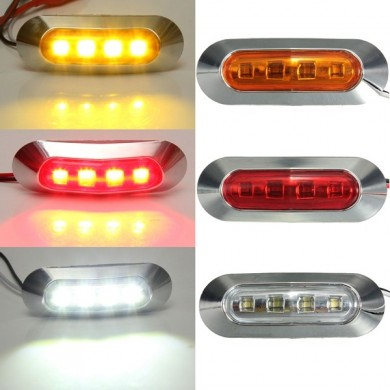 2W ABS LED Side Marker Light Tail Lamp Indicator Universial for Trailer Truck Boat