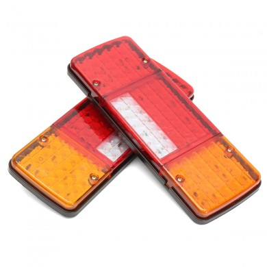 2Pcs 92 LED Multi-function Rear Truck Tail Brake Indicator Turn Lights Lamp Trailer Caravan Lorry