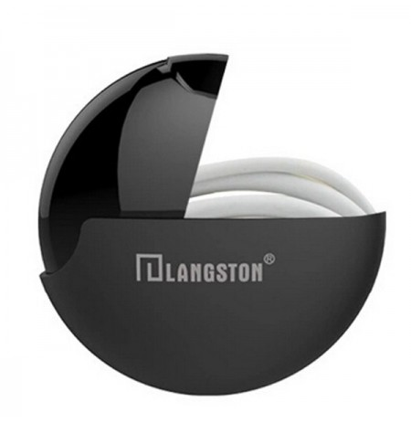 Langsdom Rotation Type Multifunctional Polishing Surface Storage Box Carrying Bag for Headphone