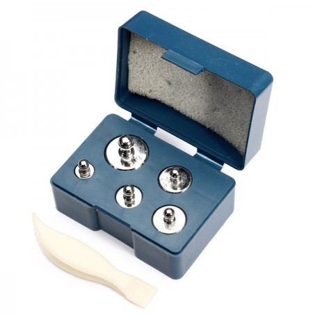 6in1 50g 20g 10g 5g Precision Chrome Calibration Scale Weight Set