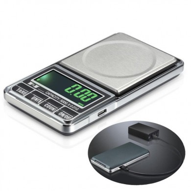 1000g 0.1g USB Digital Pocket Charging Scale Jóias Scale Balance Weighing Scale