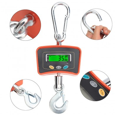 Heavy Duty 500KG 1100LBS Industrial LCD Digital Hanging Crane Scale